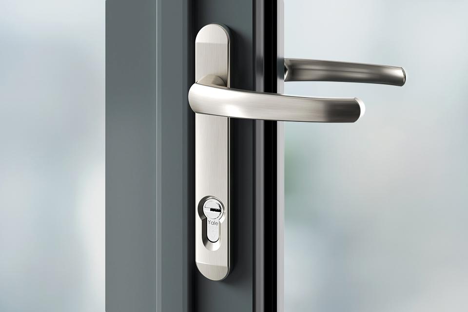 Door handles brushed stainless steel
