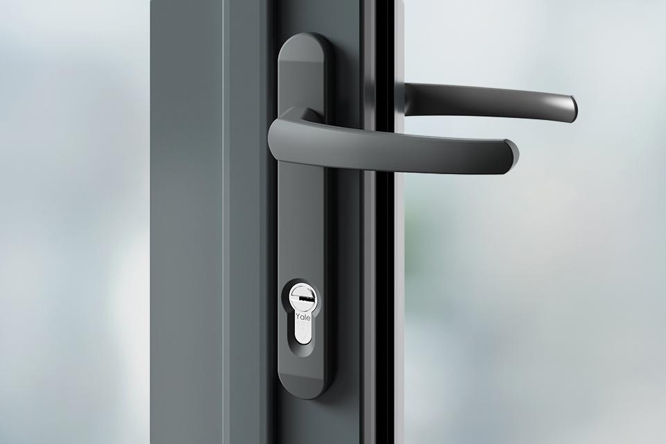 Door handles grey