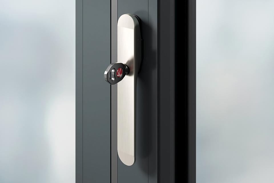 Door handles matching shoot bolt